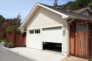 An open garage door. What happens when your garage door won't close.