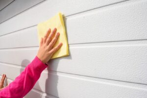 The best way to clean a garage door is simple, but the effects mean more than curb appeal.