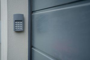 A garage door opener keypad
