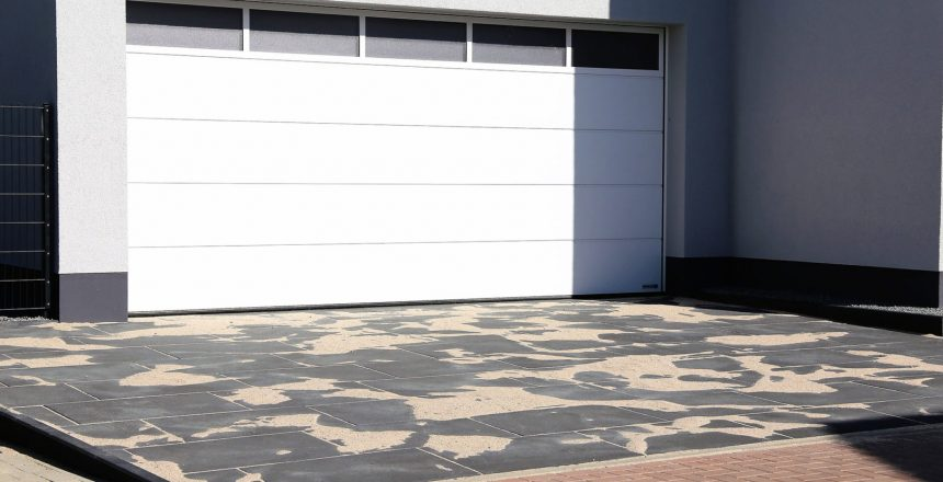 An example of a sectional door for a garage
